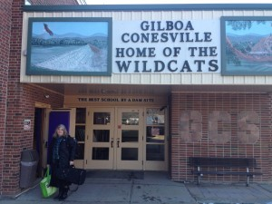 trish at Gilboa School