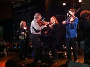 Trish, John, Sara Milonovich, & Andy Reiner at Jazz at Lincoln Center